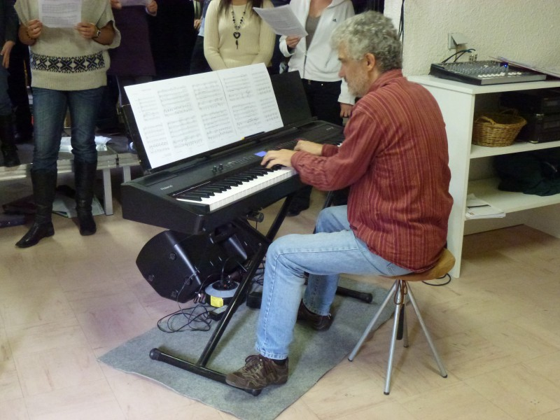 Le pianiste Bruno George en répétition