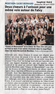 concert pour Flavy à Menthon