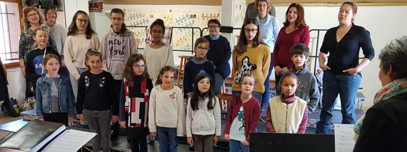 Répétition d'intégration de nos jeunes choristes